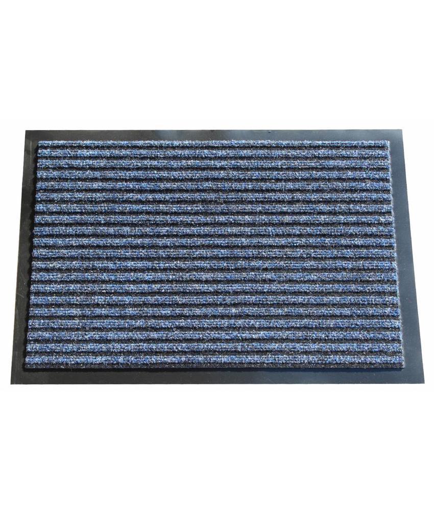 Naaldvilt deurmat Blauw 60x80cm.
