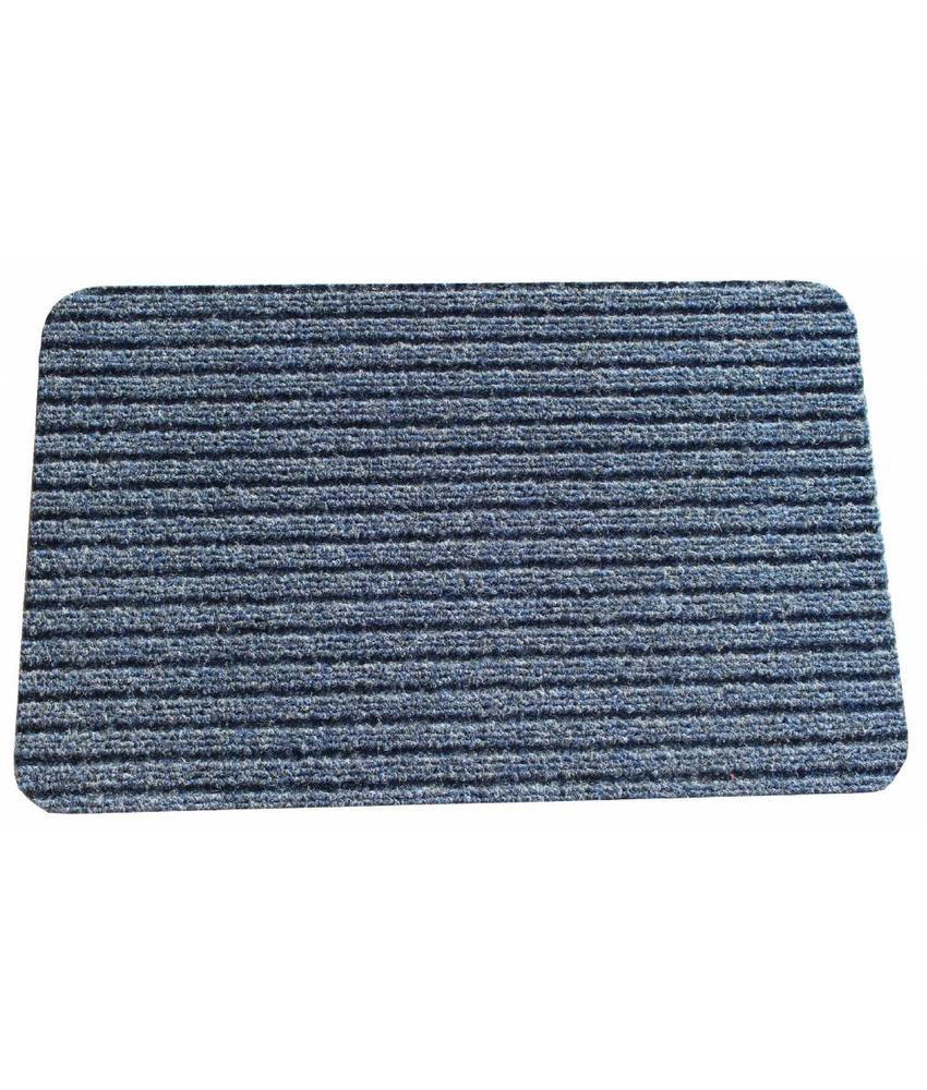Naaldvilt deurmat Solid 50 X 80 cm. Blauw