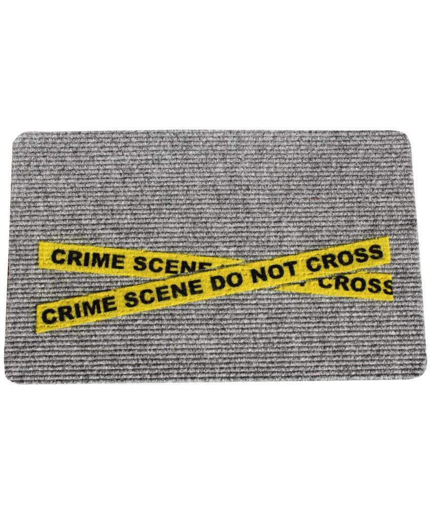 Naaldvilt deurmat Crime Scene 40 x 60 cm.