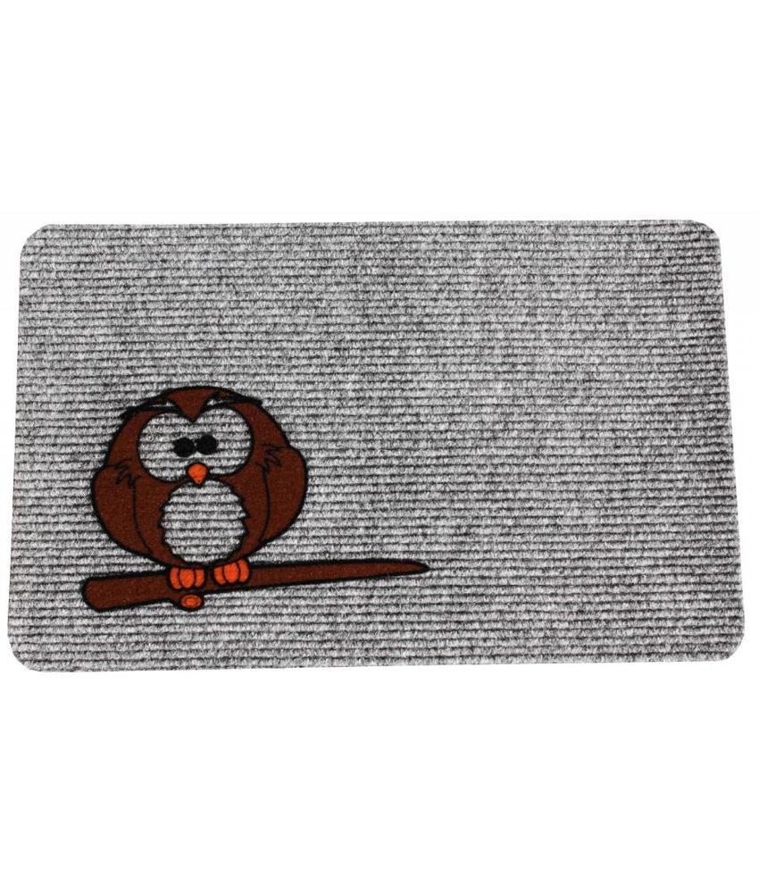 Naaldvilt deurmat Owl 40 x 60 cm.