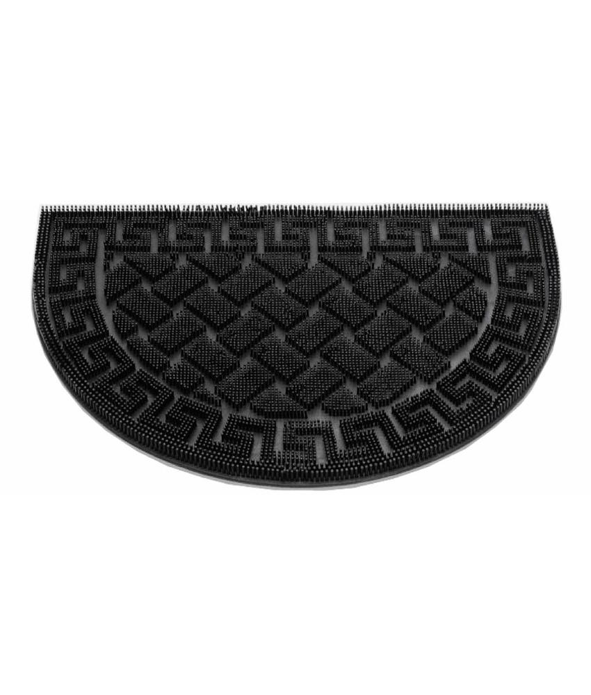 Rubber deurmat Wave Halfrond 40x60 cm.