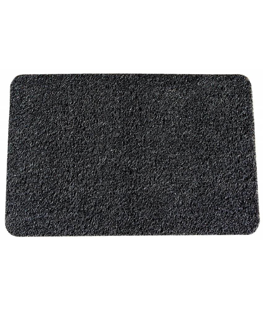 Deurmat Curly Zwart 40 x 60 cm.