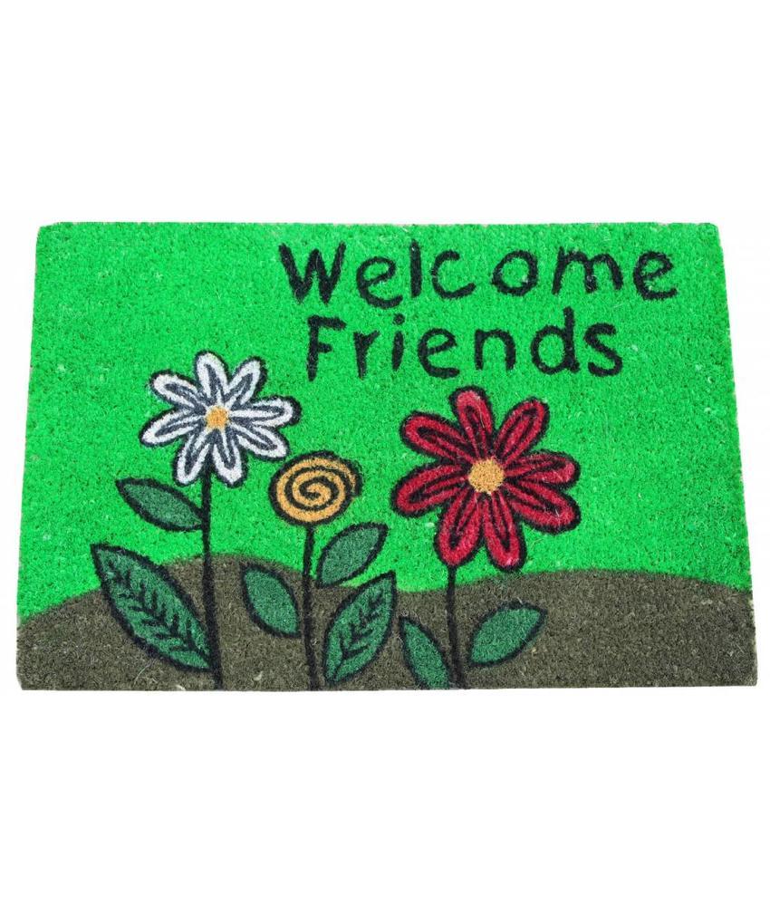 Kokosmat Welcome Friends 40x60 cm.