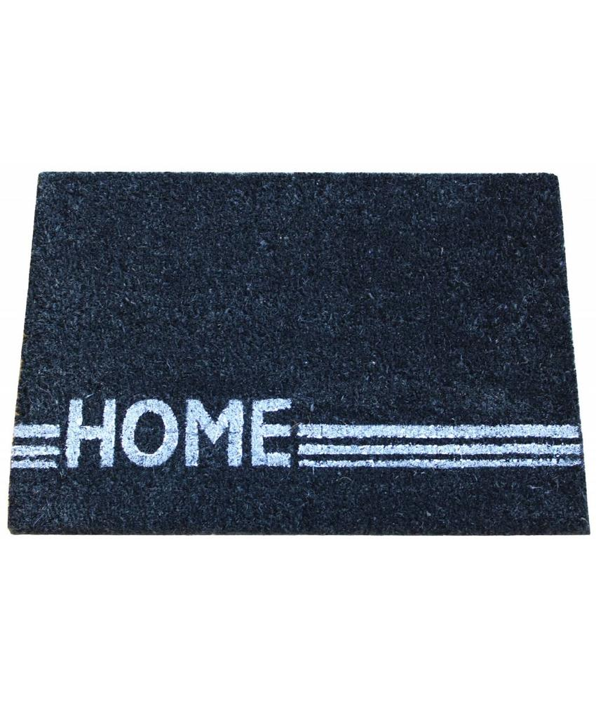 Kokosmat Home Stripe black 40x60 cm.