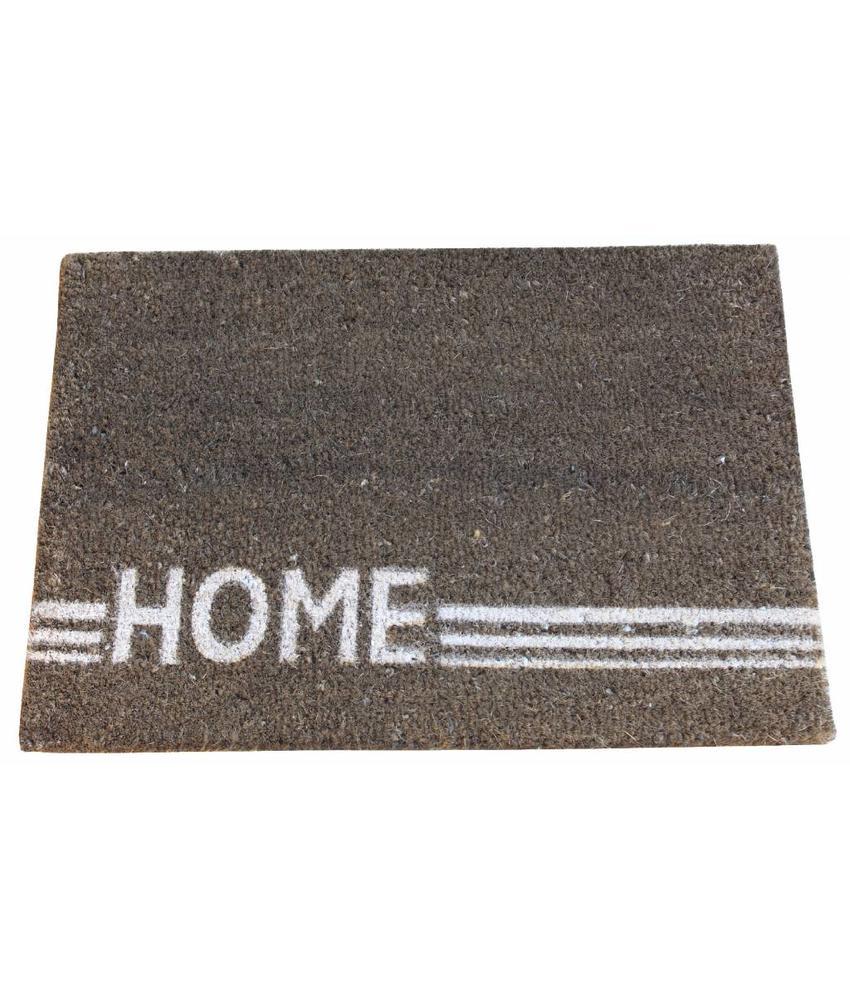 Kokosmat Home Stripe brown 40x60 cm.