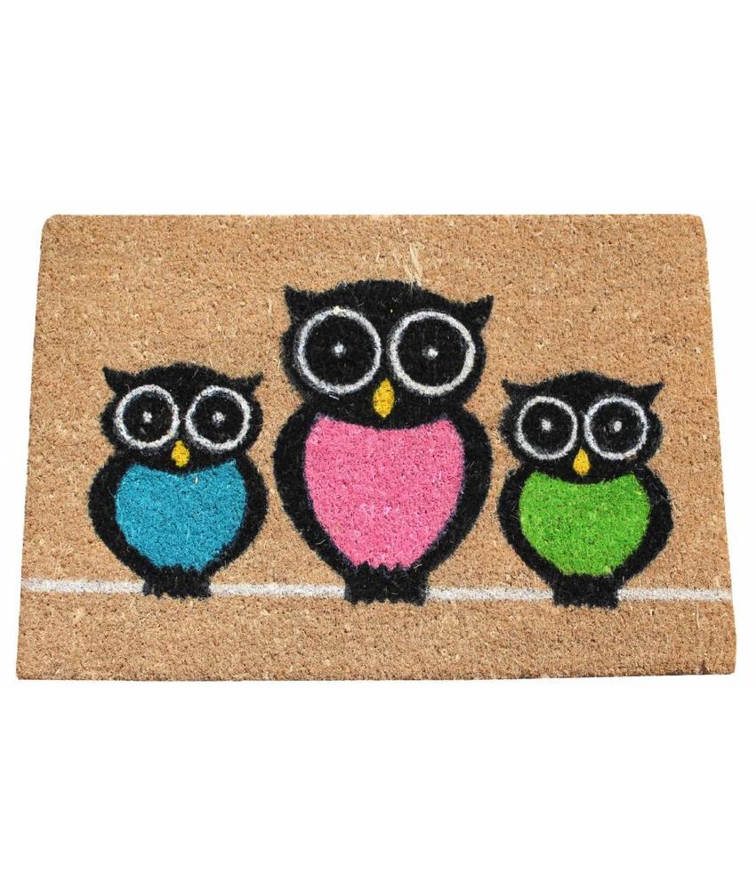 Kokosmat Owls 40x60 cm.