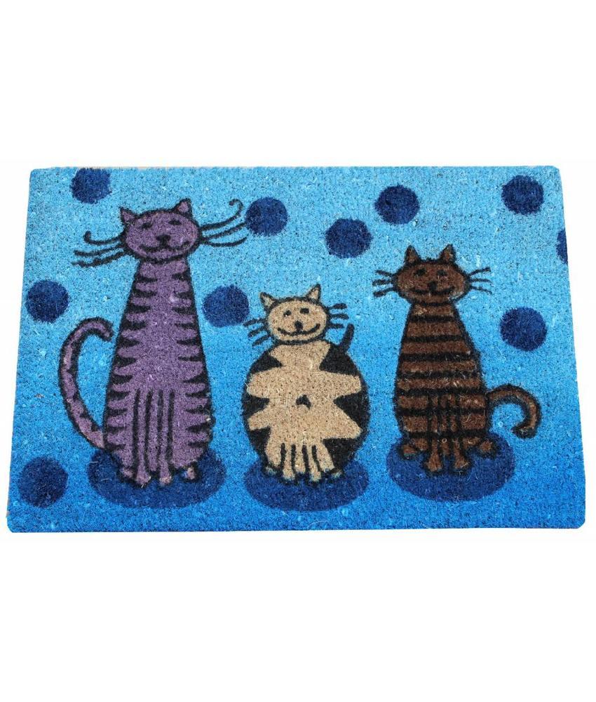 Kokosmat Cats 40x60 cm.