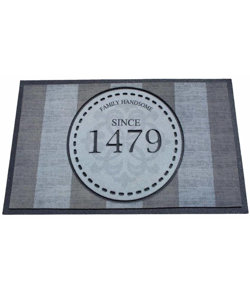 Deurmat rubber Since 1479 45x75 cm.