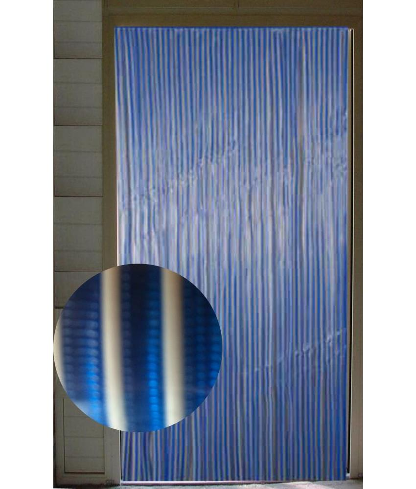 Vliegengordijn pvc Blauw/Wit 90x220 cm