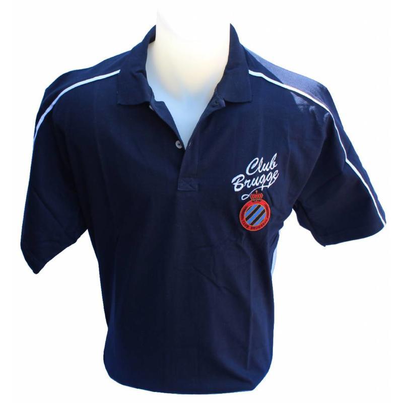 Polo Shirt witte streep Club Brugge