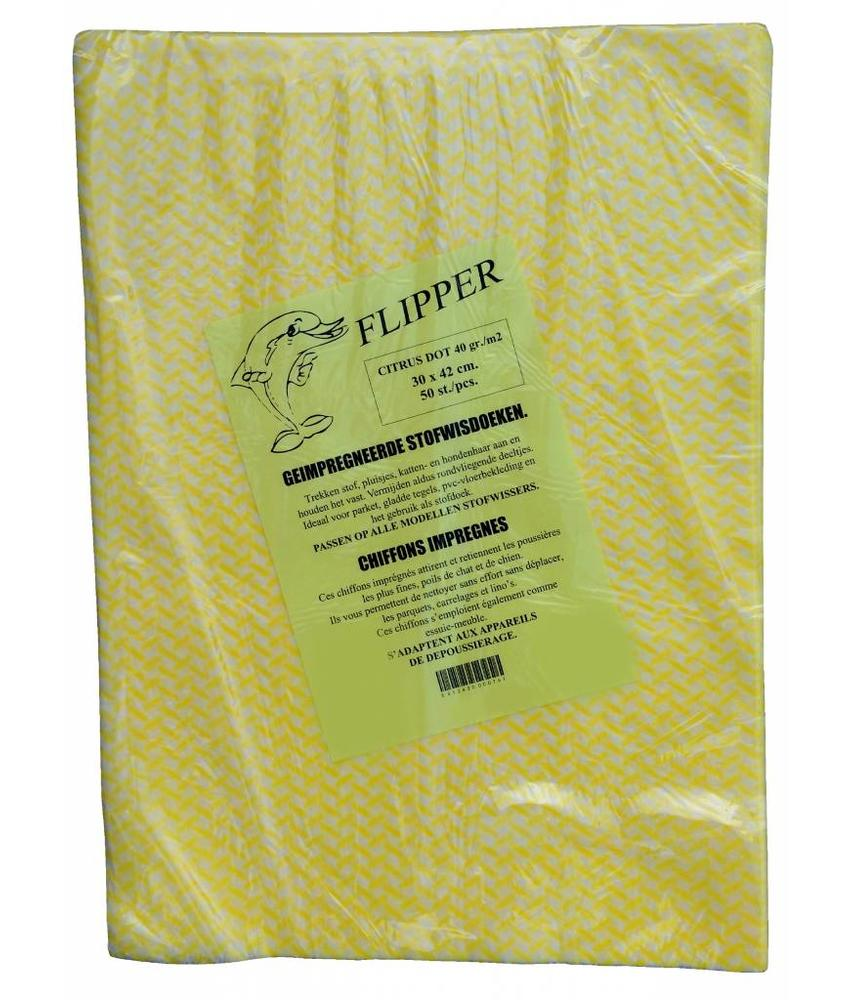 Flipper Stofwisdoekjes citrus dot 30x42 cm.