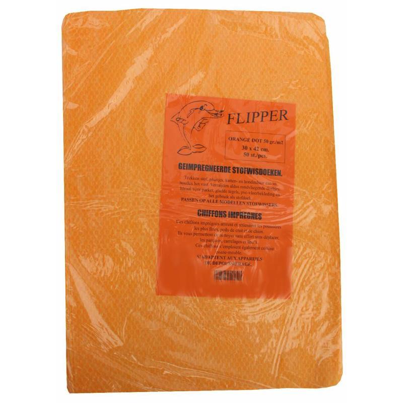 Flipper Stofwisdoekjes orange dot 30x42 cm.