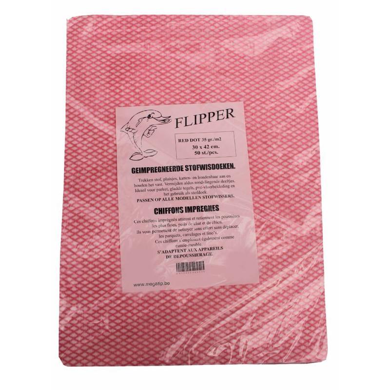 Flipper Stofwisdoekjes red dot 30x42 cm.