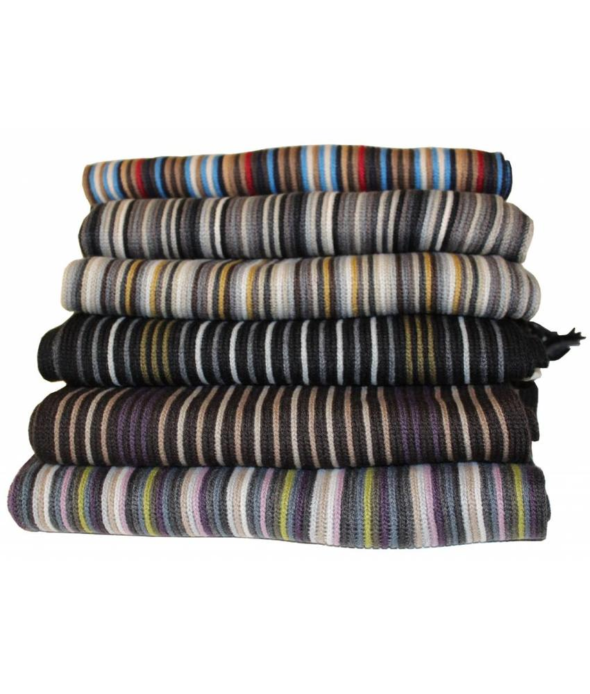 Sjaals gestreept