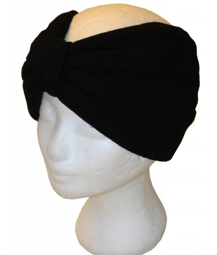 Angora Haarband Zwart