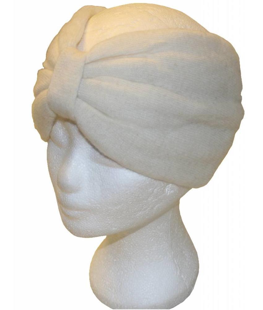 Angora Haarband Ecru