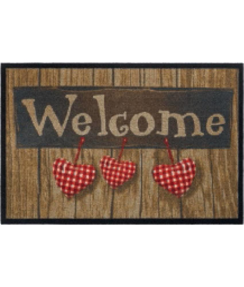 Deurmat Welcome Hearts 50x75 cm.