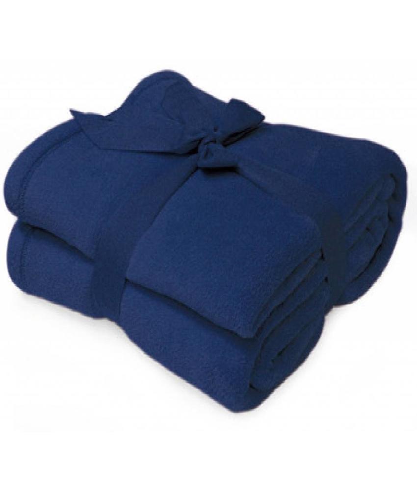 Fleece deken Microflush 130x180 cm Navy Blauw