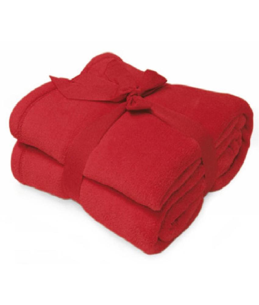 Fleece deken Microflush 130x180 cm Rood