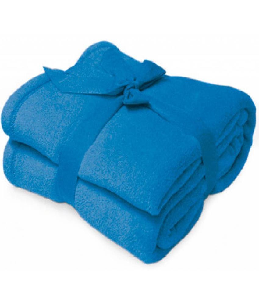 Fleece deken Microflush 130x180 cm Royal Blauw