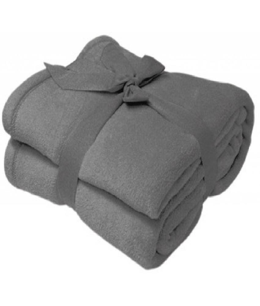 Fleece deken Microflush 130x180 cm Grijs