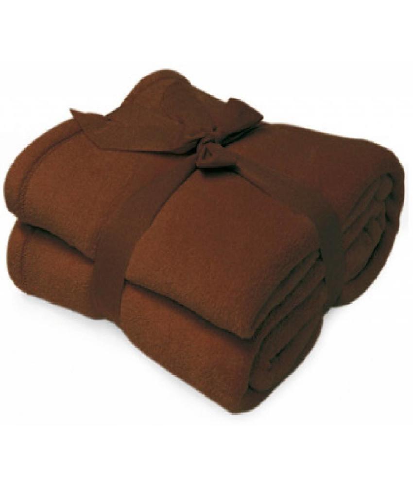 Fleece deken Microflush 130x180 cm Bruin