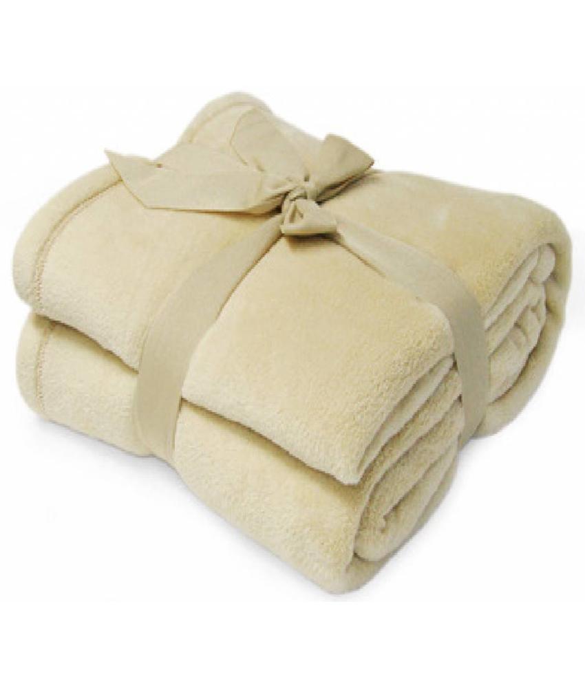 Fleece deken Microflush 130x180 cm Beige
