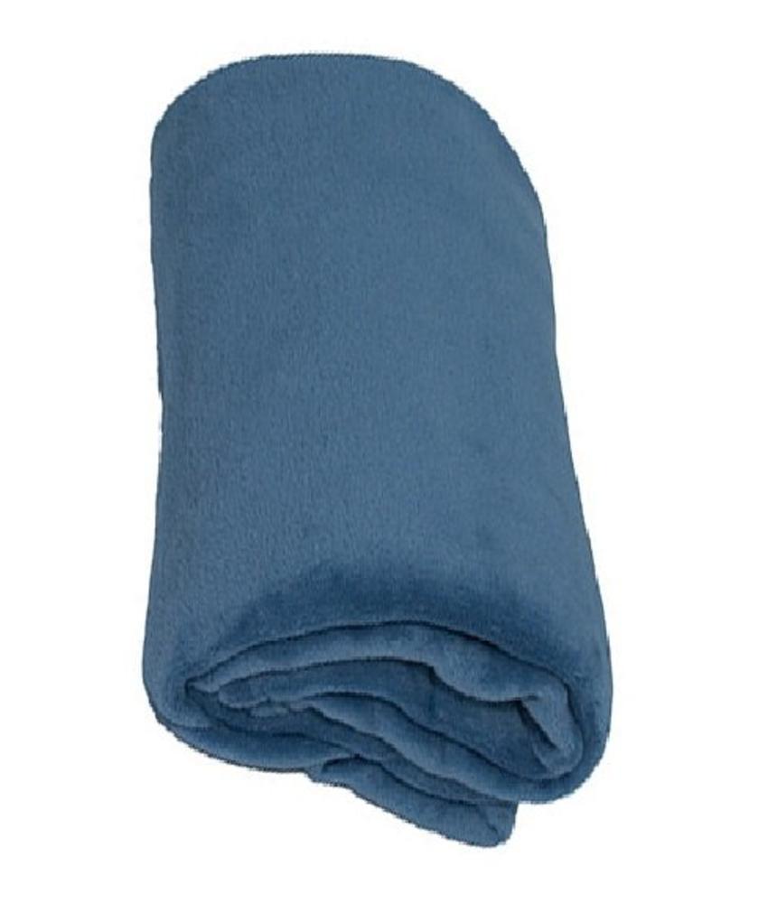 Fleece deken Coral 120x160 cm licht Blauw