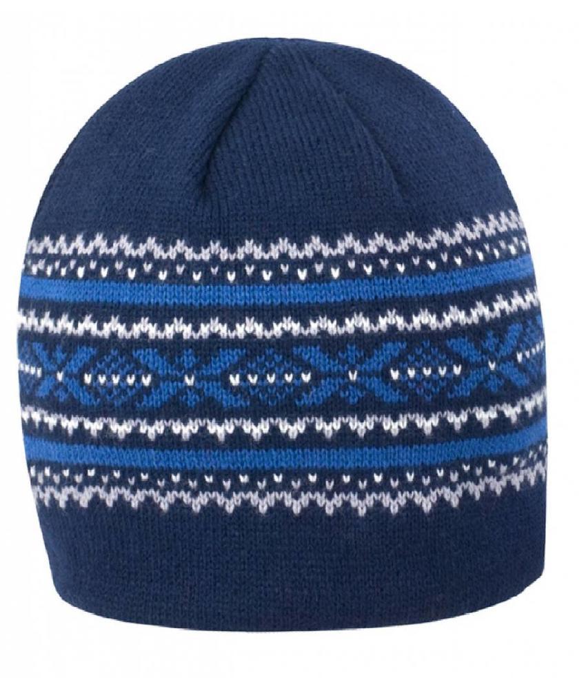 Gebreide Aspen muts Blauw/Grijs/Blauw