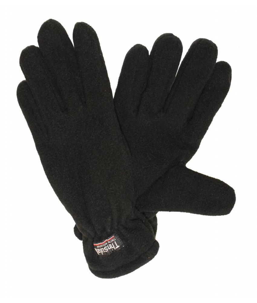 Fleece handschoenen Heren Zwart