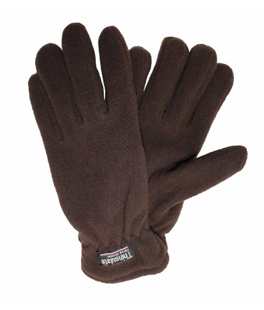 Fleece handschoenen Heren Bruin