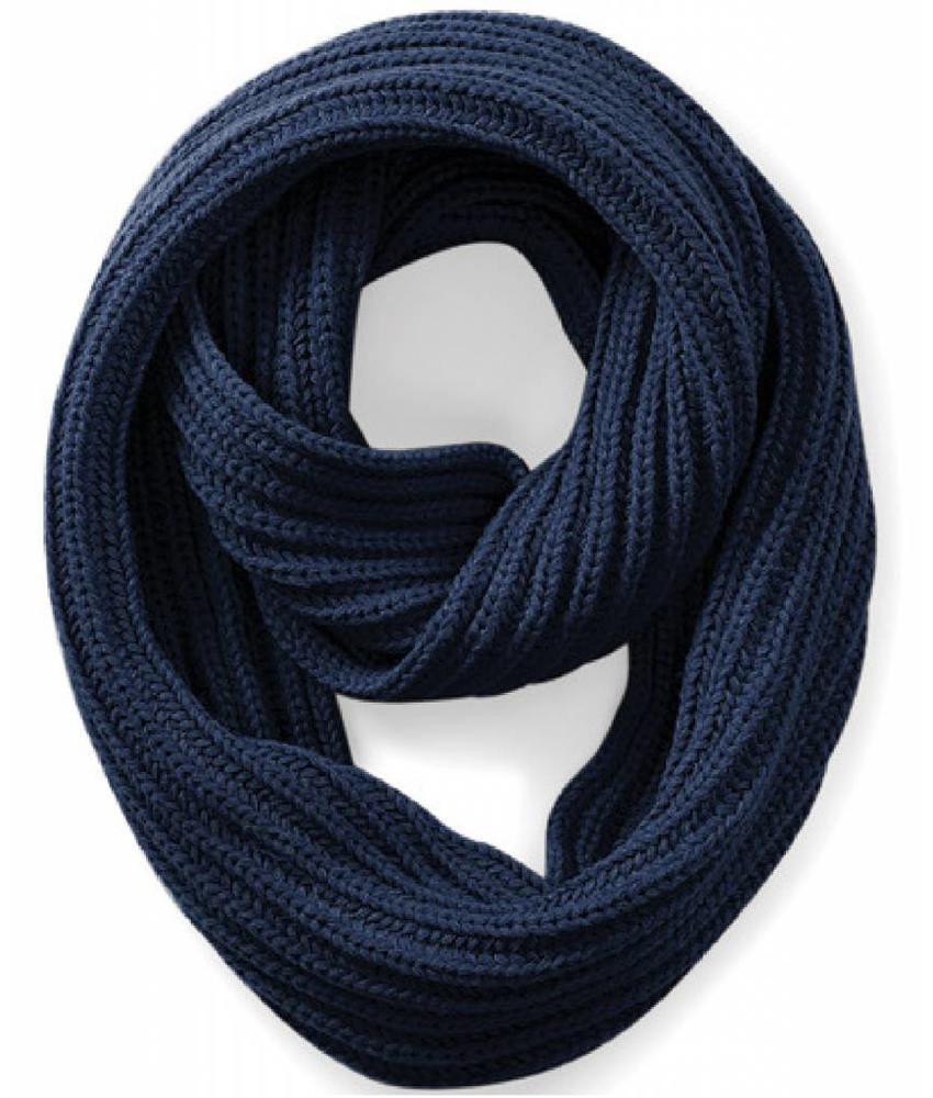 Rondgebreide sjaal French Navy