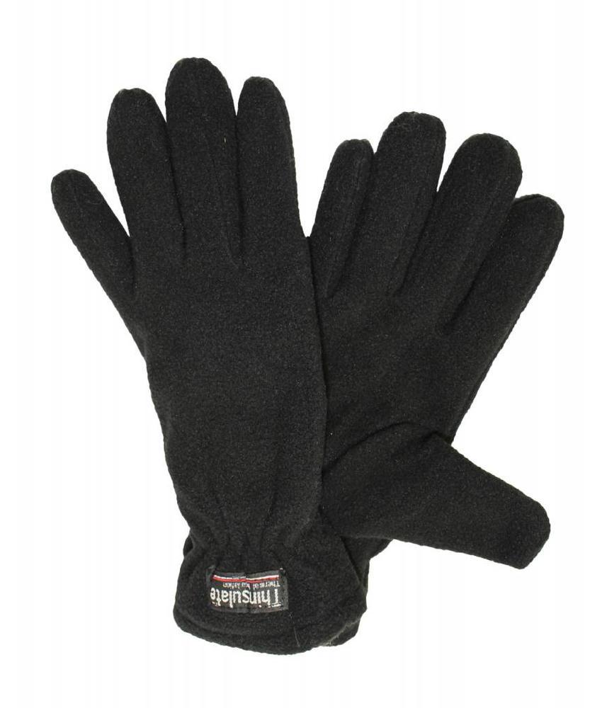 Fleece handschoenen Dames Zwart
