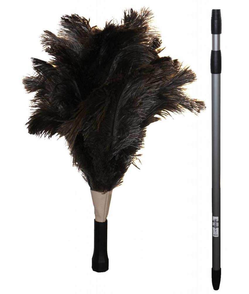 Struisvogel Plumeau met telescoopsteel