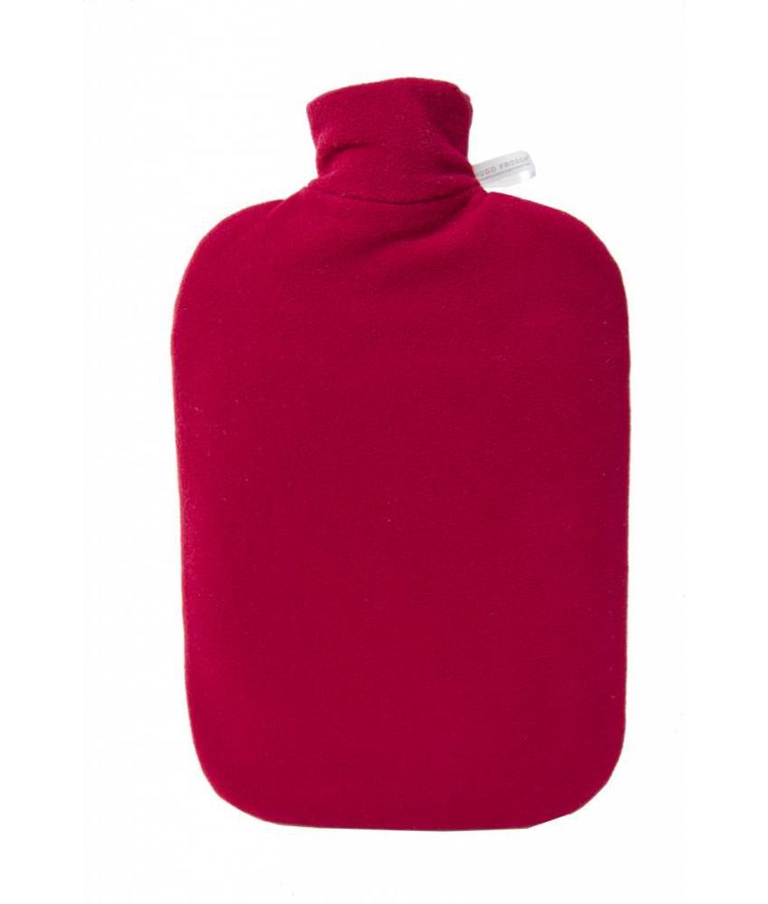 Warmwaterkruik Comfort fleece rood