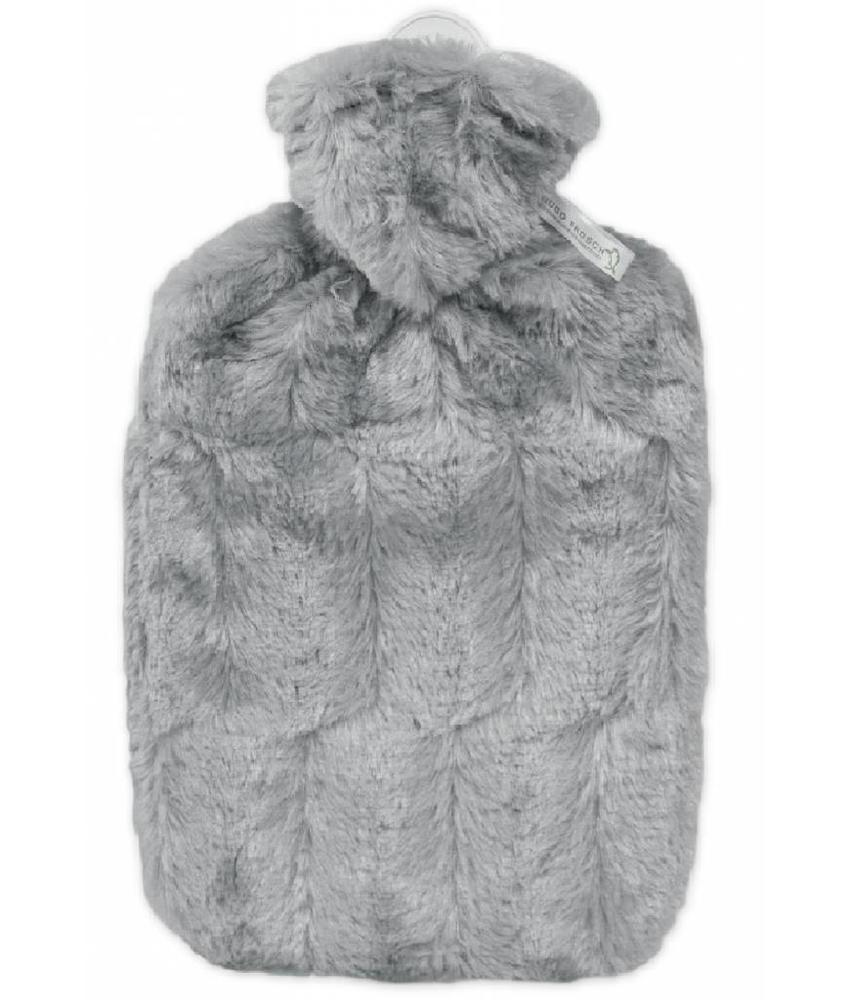 Warmwaterkruik zacht donzige fleece Grijs