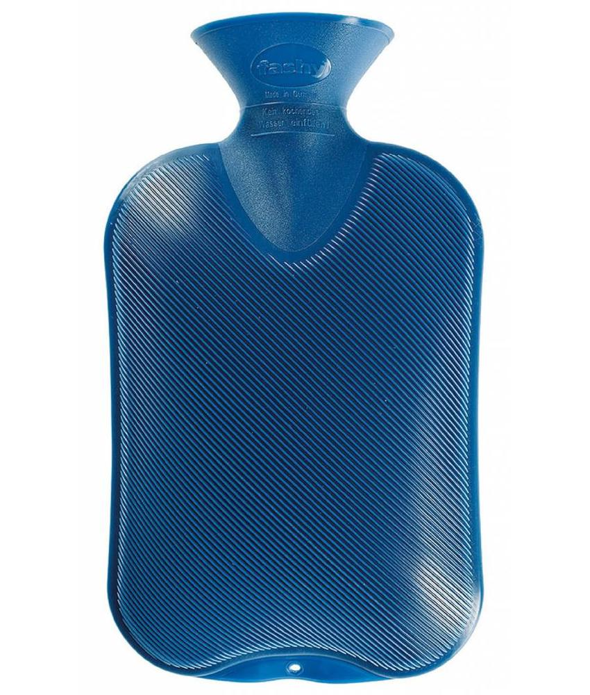 Fashy Warmwaterkruik geribd saffierblauw