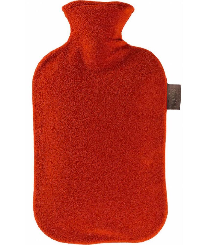 Fashy Warmwaterkruik 2 L. fleece hoes rood