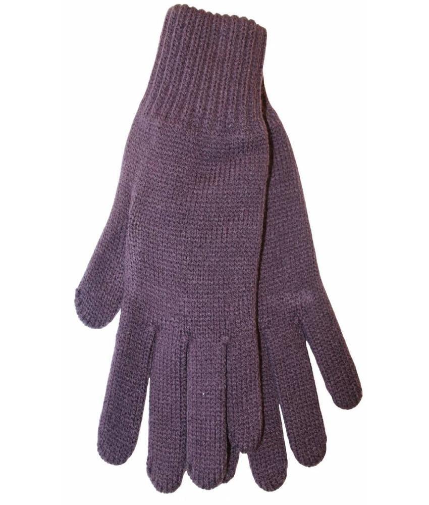 Gebreide Dames Handschoenen Mauve