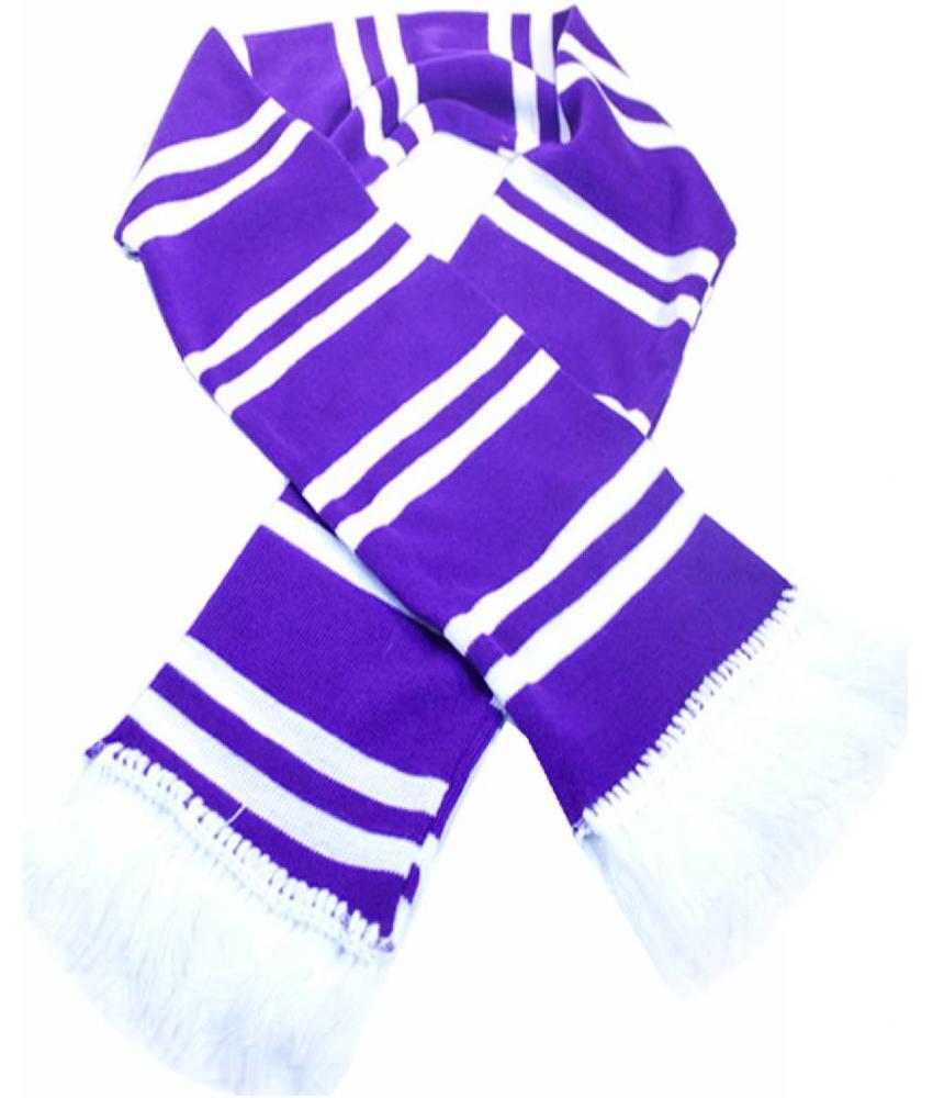 Sjaal gestreept Mauve / wit (witte frengels)