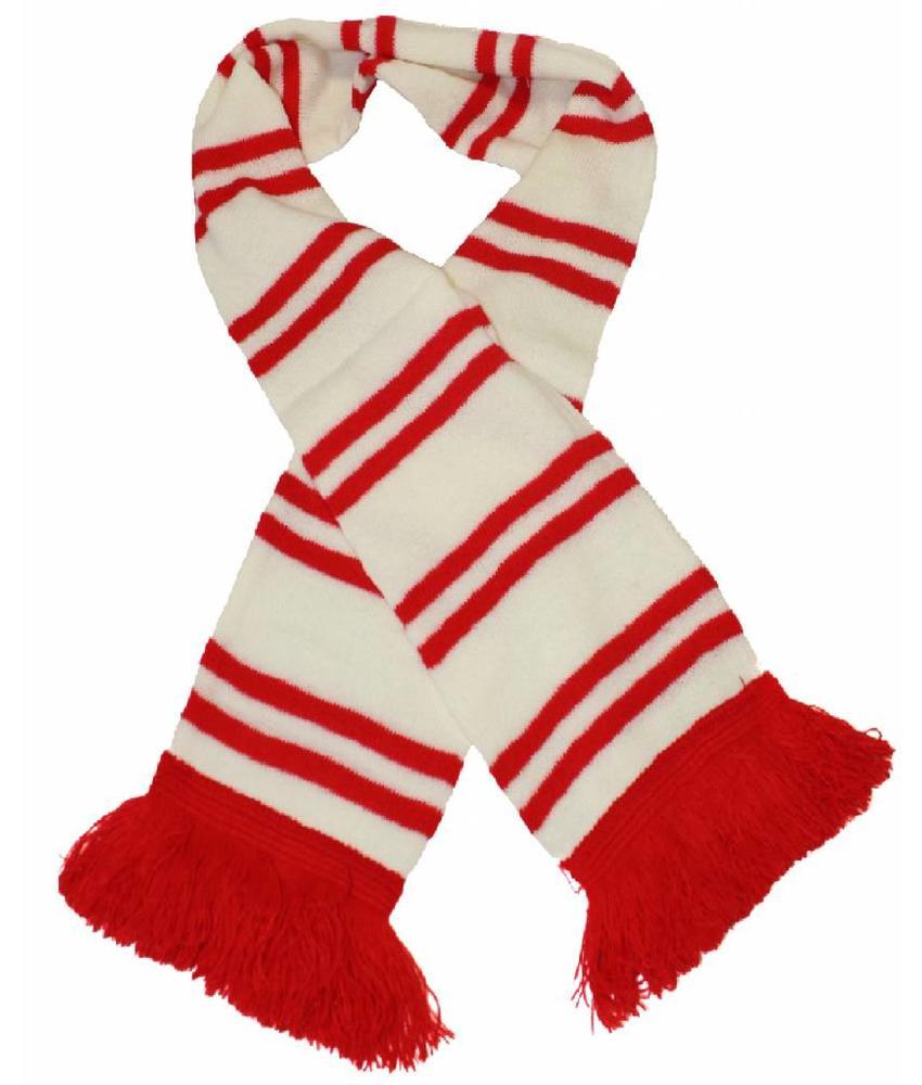 Sjaal gestreept Wit / rood