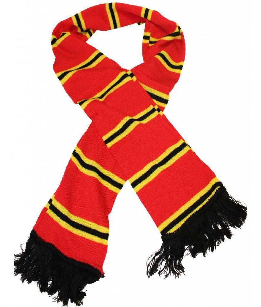 Sjaal gestreept Rood / Geel / Zwart