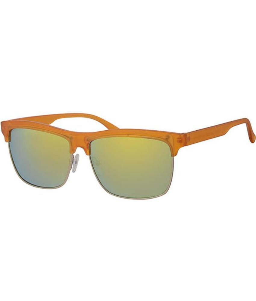 Clubmaster zonnebril oranje