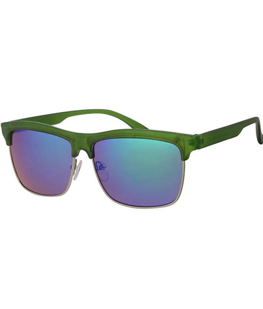 Clubmaster zonnebril groen