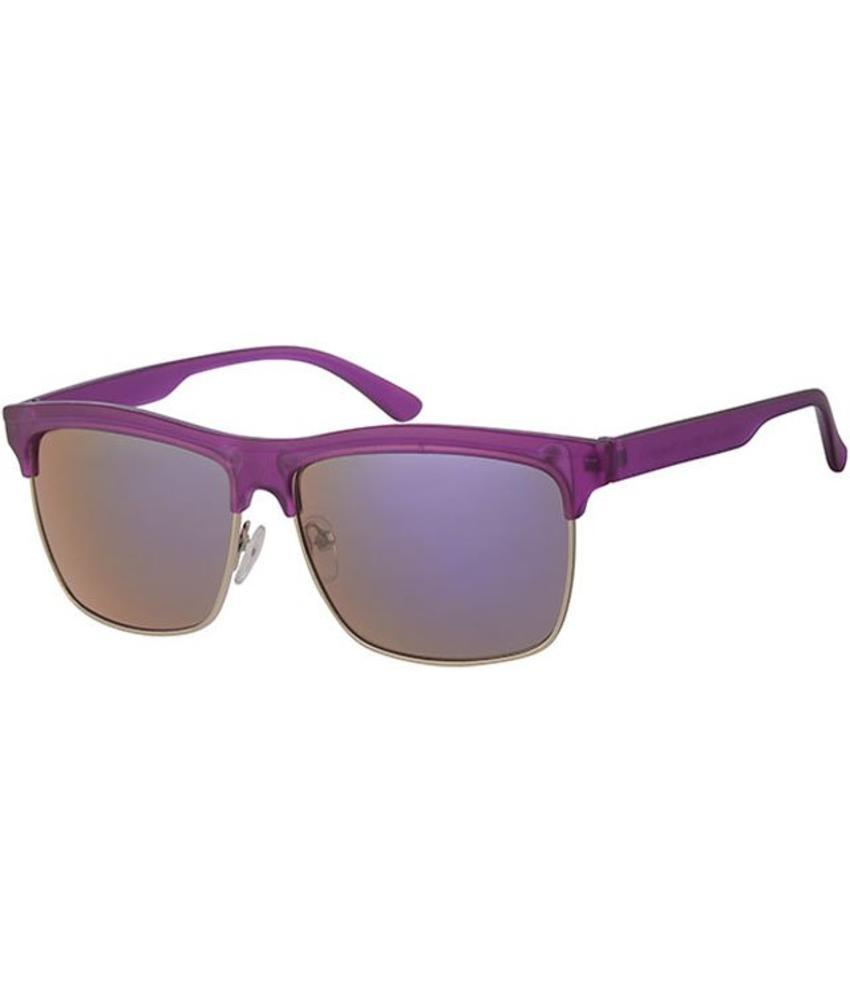 Clubmaster zonnebril mauve