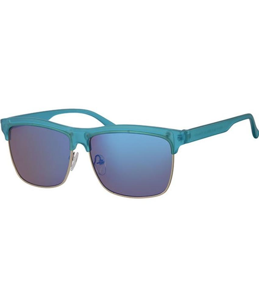 Clubmaster zonnebril blauw