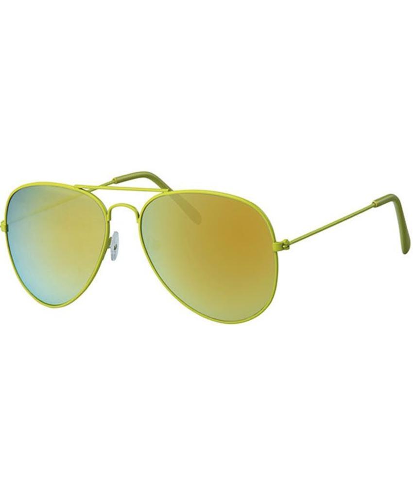 Piloten zonnebril licht groen