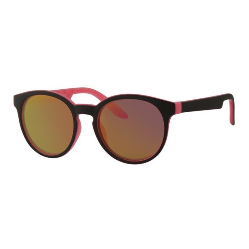 Kids zonnebril around zwart/roos