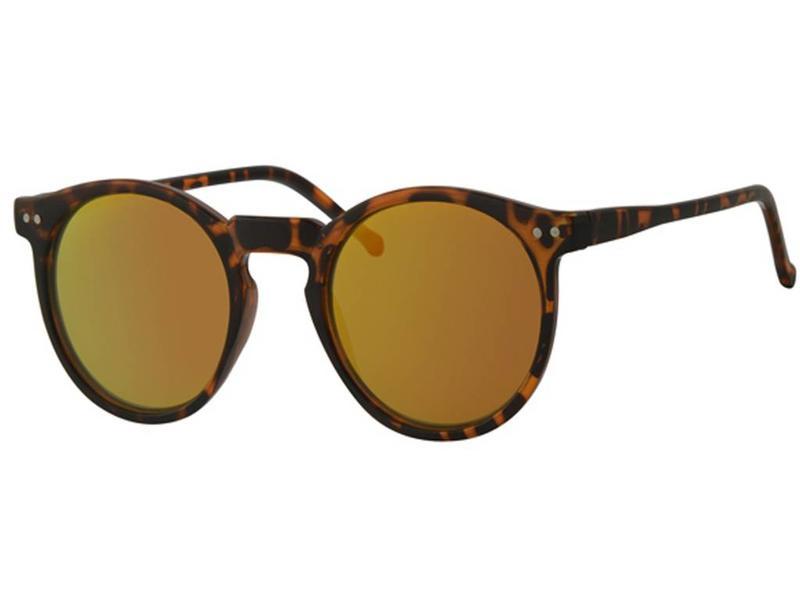 Kinder clubmaster zonnebril Leopard met spiegelglas