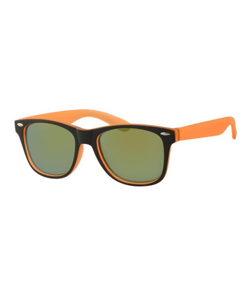 Kids Wayfarer zonnebril Oranje/zwart